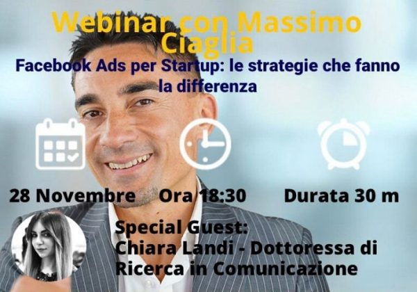 Webinar #6 Facebook Ads per startup: le strategie che fanno la differenza