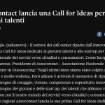 Assocontact lancia una Call for Ideas per giovani talenti