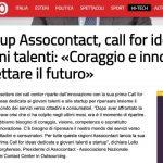 Start up Assocontact, call for ideas per giovani talenti: «Coraggio e innovazione per progettare il futuro»